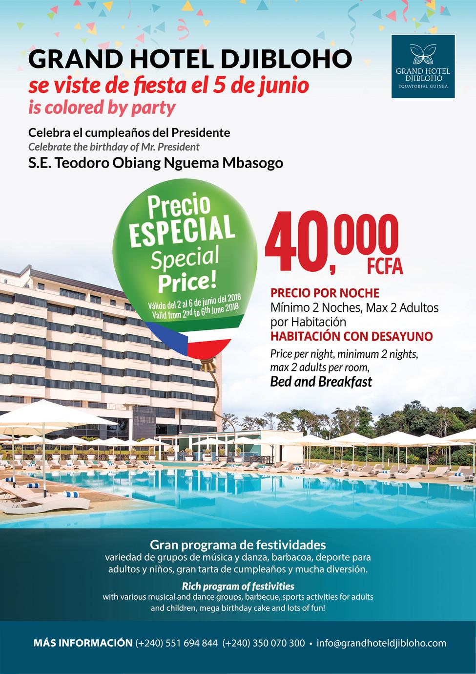 Birthday Celebration Grand Hotel Djibloho